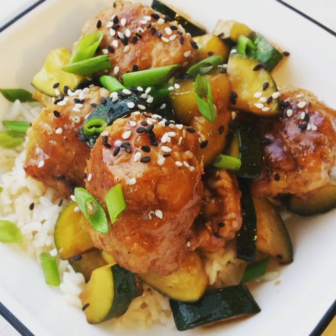 Hoisin-Glazed Chicken Meatballs