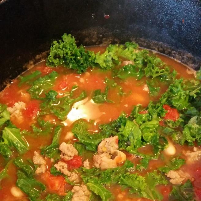Sausage, White Bean, and Kale Soup